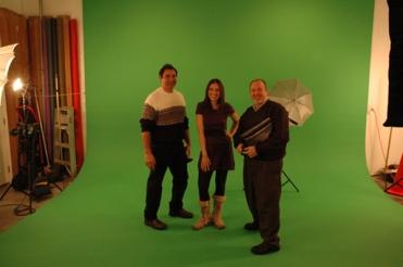 St louis green screen video production. Full size hard cyclorama green screen.