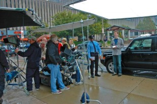video talent and crew filming
