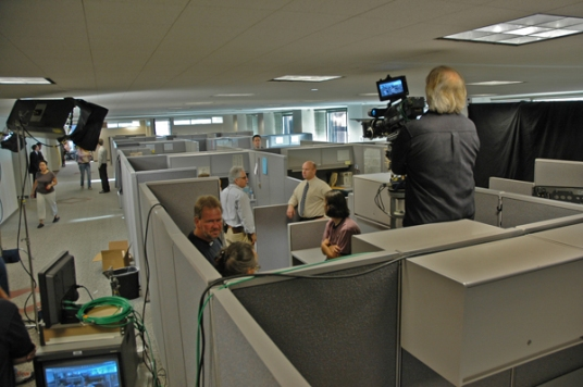 video taping in office area
