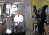 doctor on video production set