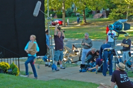 outside location filming