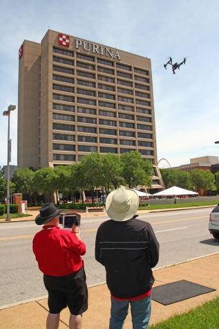 St Louis Drones our two man flight crew with Inspire UAV